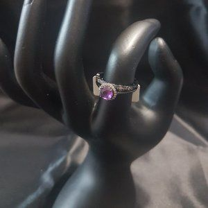"""Charmed Aroma Stackable """"Amethyst"""" Rings"""